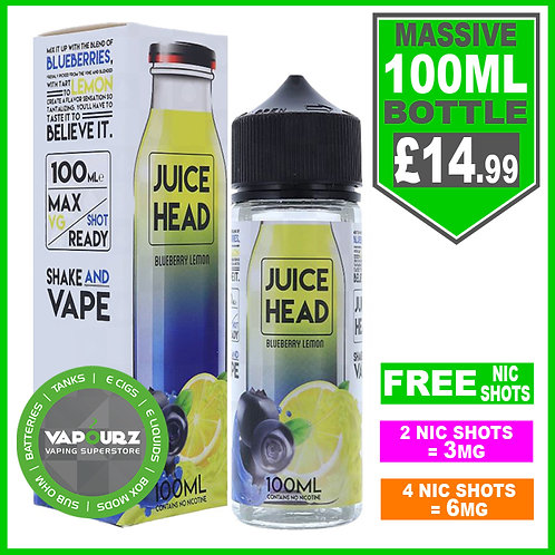 Blueberry Lemon Juice Head 100ml