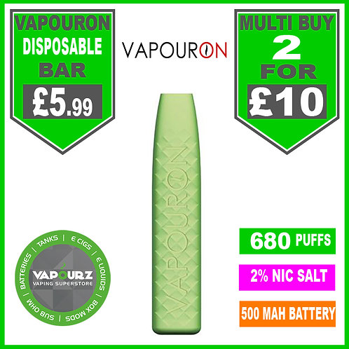 Vapouron Apple Ice disposeable bar
