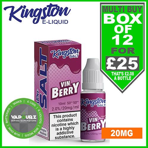 Box Deal Kingston Vinberry Nic Salt 20mg