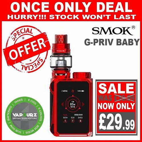 Smok G Priv Baby Kit Red Plus Free 18650 Battery