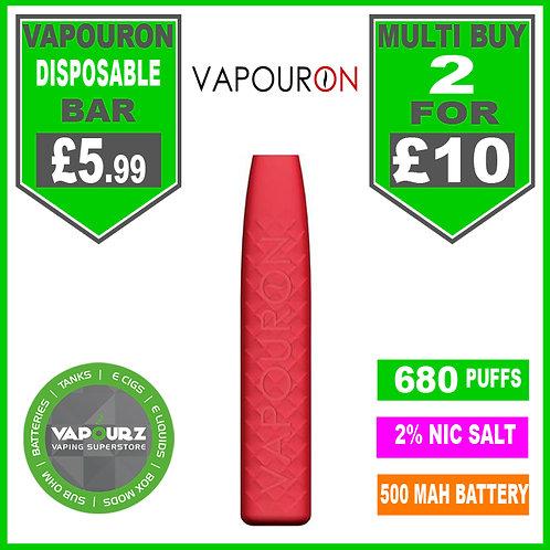 Vapouron Strawberry disposeable bar