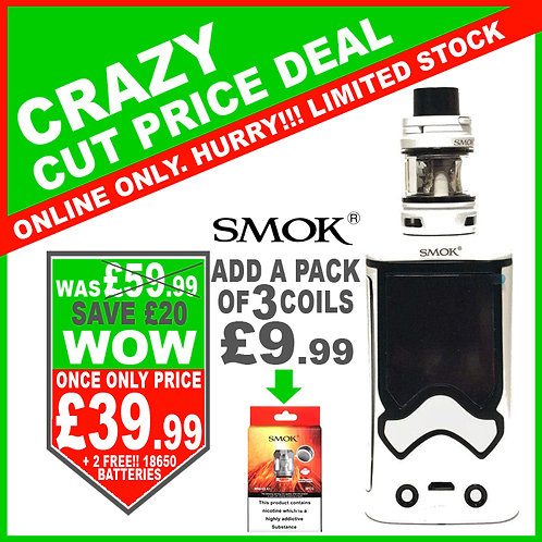 Smok T-Storm Kit White with 2 x FREE 18650 Batteries