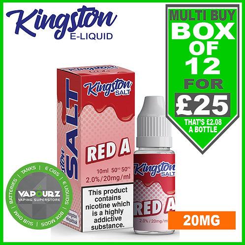 Box Deal Kingston Red A Nic Salt 20mg
