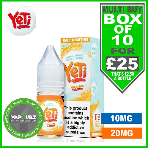 Box Deal Orange Mango Yeti Nic Salts