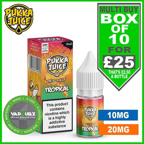 Box Deal Pukka Tropical Nic Salt 10ml