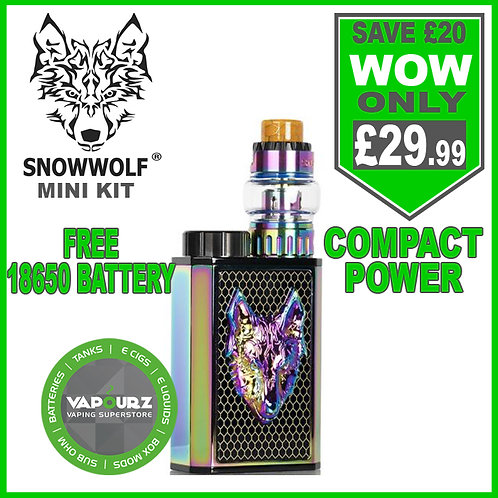 Snowwolf mini kit Black + Rainbow