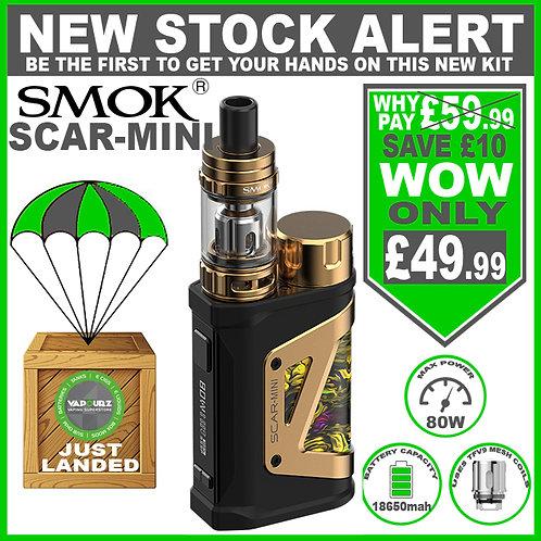 SMOK Scar - Mini Kit Fluid Gold + FREE 18650 Battery