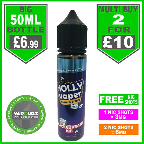 Blackcurrant Ice Holly Vaper 50ml