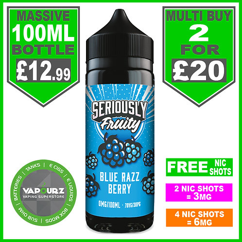 Blue Razz Berry Seriously Fruity Doozy 100ml