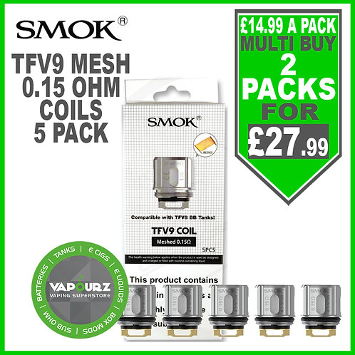 Smok TFV9 Meshed Coils (5 Pack) 0.15ohm