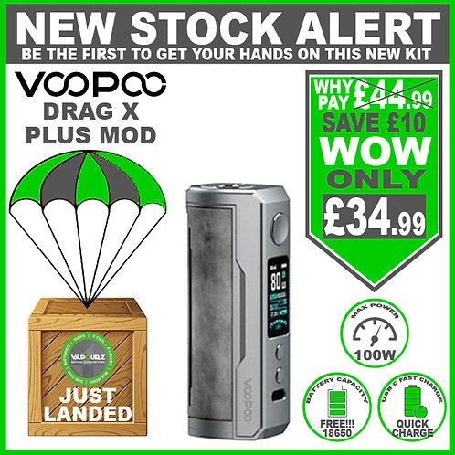 Voopoo Drag X Plus Mod Smoky Grey & FREE 18650 Battery