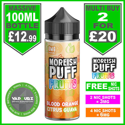 Blood Orange Citrus Guava Fruits Moreish Puff 100ml
