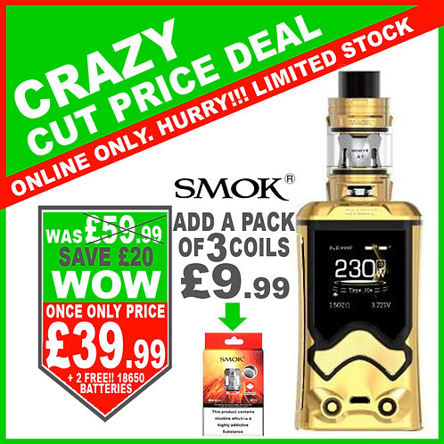 Smok T-Storm Kit Gold with 2 x FREE 18650 Batteries