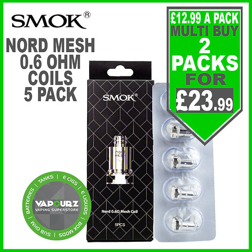 Smok Nord Mesh Coils 0.6ohm Pack of 5