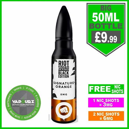 Signature Orange Black Edition Riot Squad 50ml