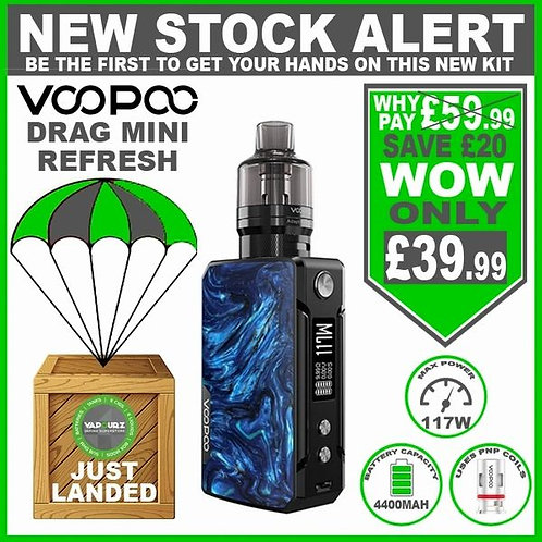 Voopoo Drag Mini Refresh PNP Kit Prussian Blue