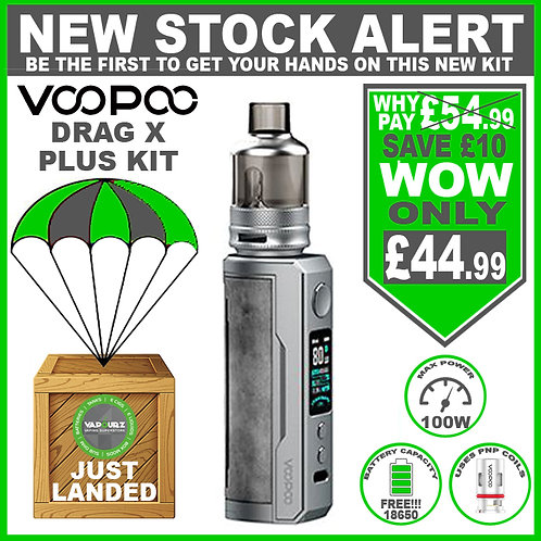 Voopoo Drag X Plus Kit Smoky Grey & FREE 18650 Battery