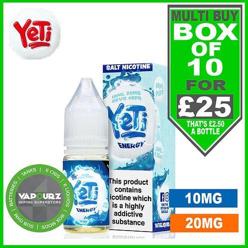 Box Deal Energy Yeti Nic Salts