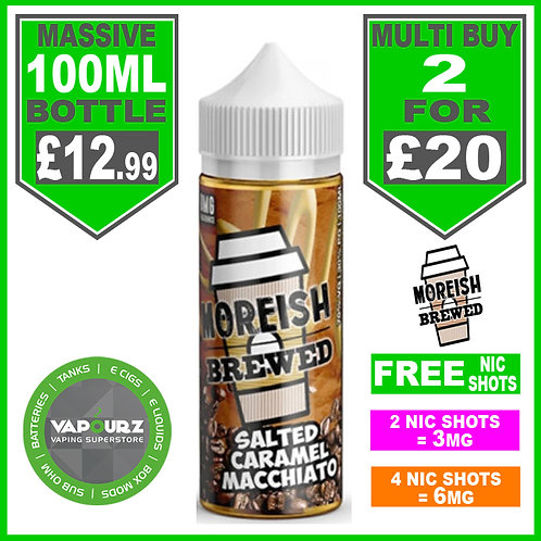 Salted Caramel Macchiato Brewed Moreish Puff 100ml