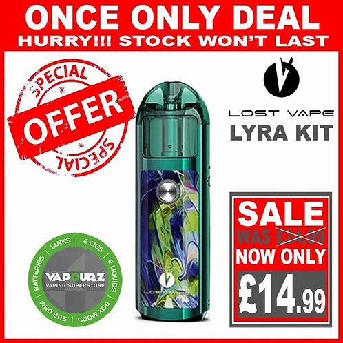 Lost Vape Lyra Pod Kit Green - Peacock