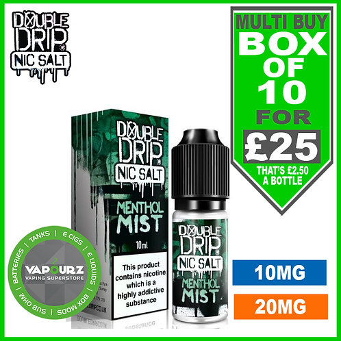 Box Deal Menthol Mist Double Drip Nic Salts