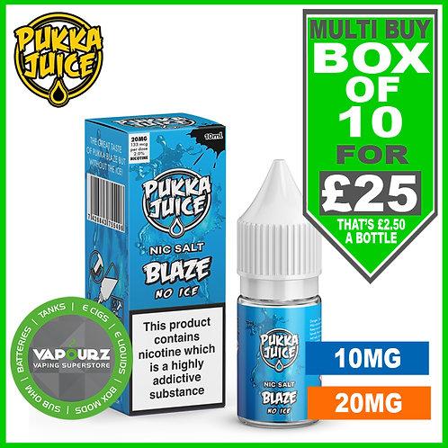 Box Deal Pukka Blaze No Ice Nic Salt 10ml
