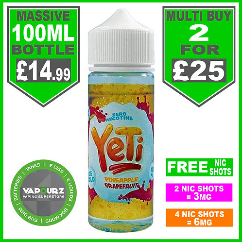 Pineapple Grapefruit Yeti 100ml