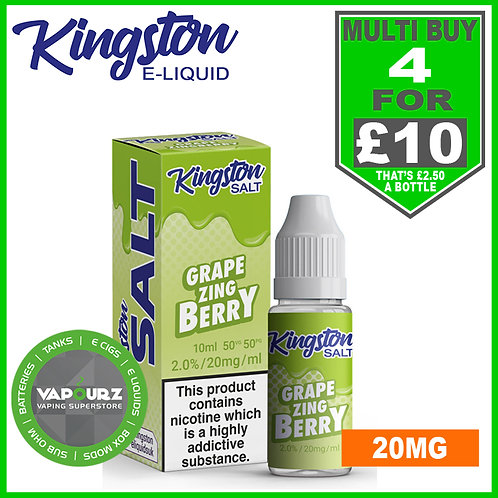 Kingston Grape Zingberry Nic Salt 20mg