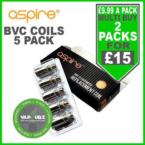 Aspire BVC Coils 5 Pack