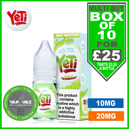 Box Deal Apple Cranberry Yeti Nic Salts