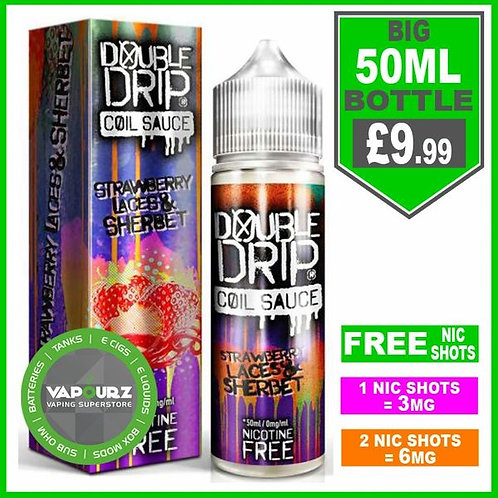 Strawberry laces & Sherbet Double Drip 50ml