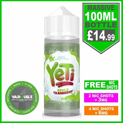 Apple Cranberry Yeti 100ml