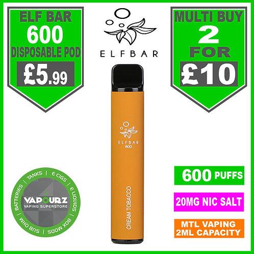 Elf Bar 600 Cream Tobacco