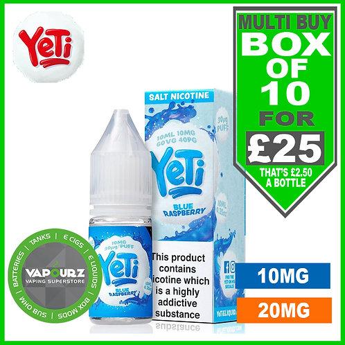Box Deal Blue Raspberry Yeti Nic Salts