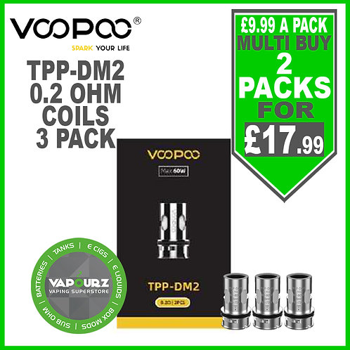 Voopoo TPP DM2 Coils 0.2ohm 3 Pack
