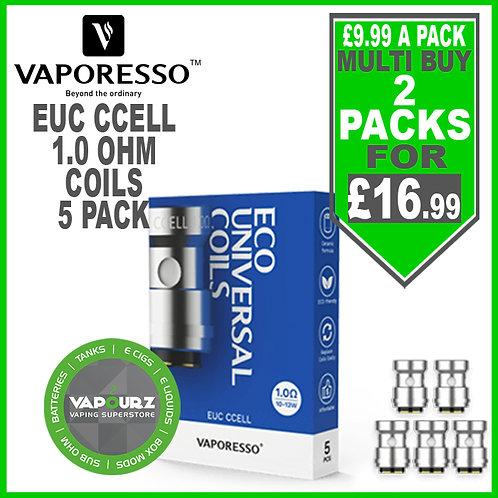 Vaporesso EUC  Ccell Coils 1.0ohm 5 Pack