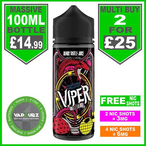 Strawberry & Pineapple Viper Fruity 100ml