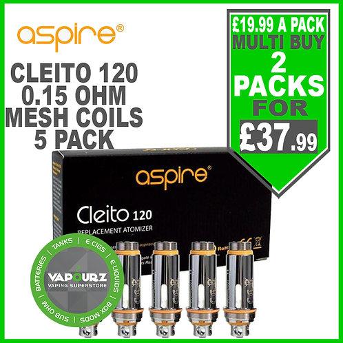 Aspire Cleito 120 Mesh Pro Coils 0.15 ohm 5 Pack