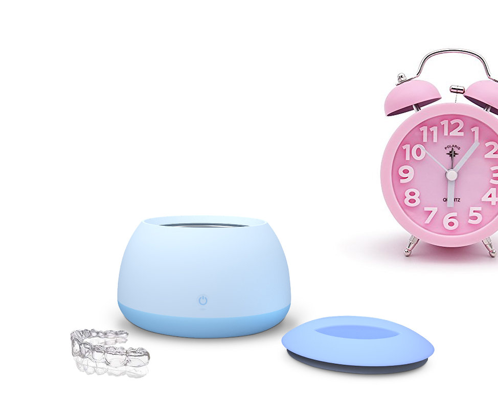 Clean Clear Aligners in 5 minutes.invisalign、SLX、 Clearcorrect、candid pink Clock