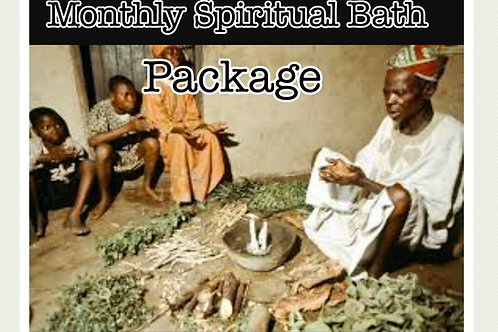 Monthly spiritual bath package
