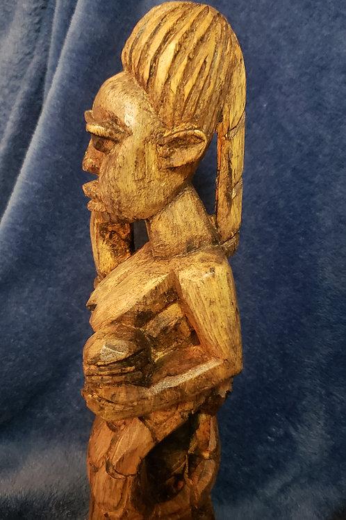 Hand carved Osun( Oshun) statue