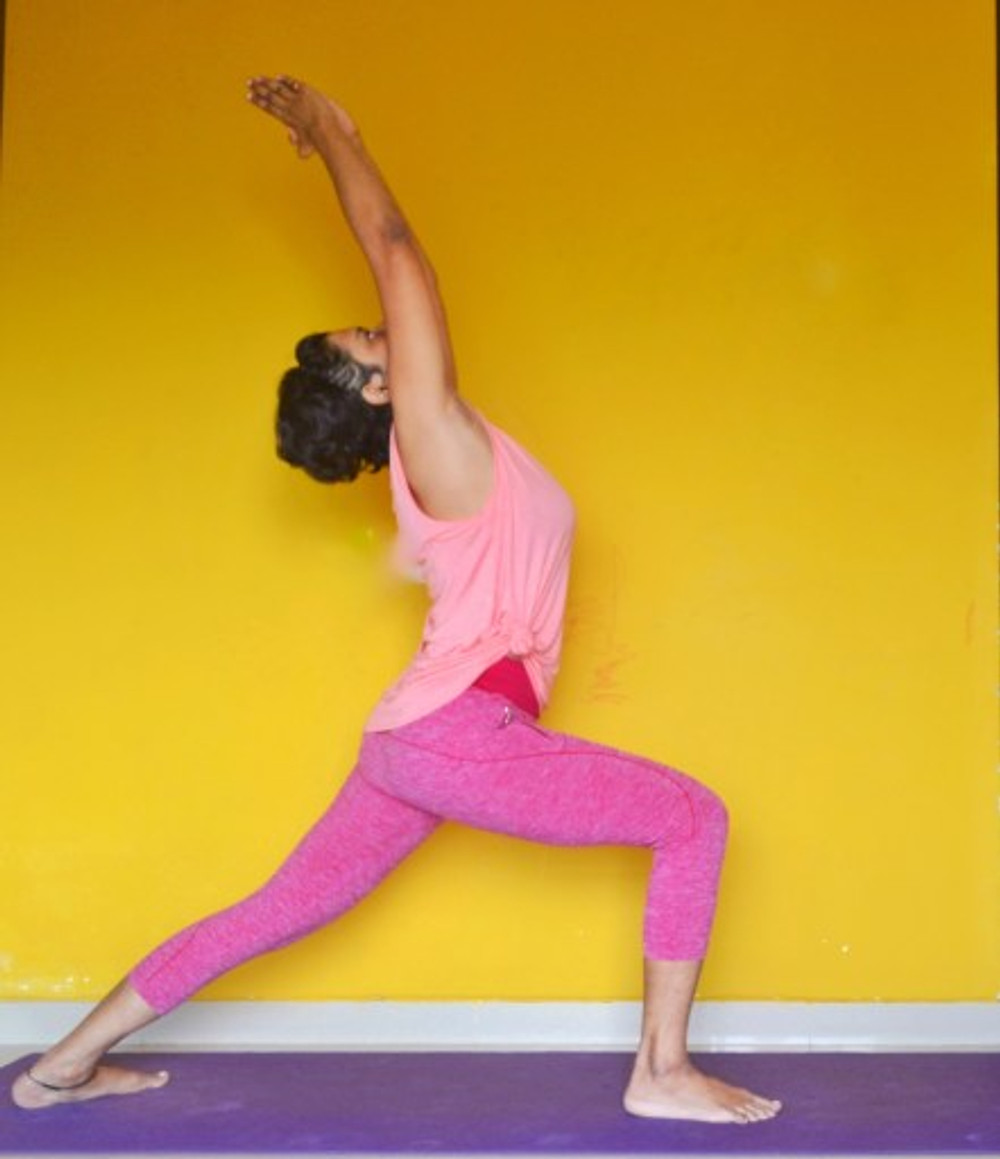 yoga for pregnant women yoga teacher paramita singh in warrior pose