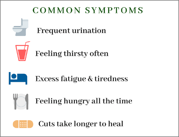Diabetes Symptoms Infographic