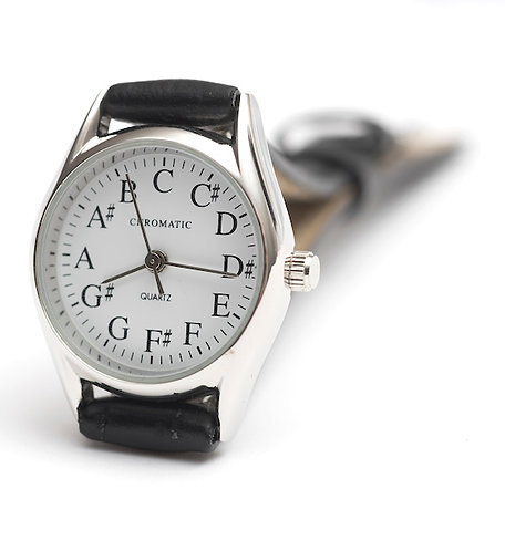 Chromatic Scale Watch for Women in Silver
