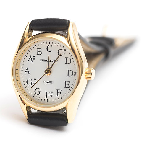 Chromatic Scale Watch for Women in Gold