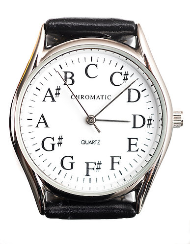 Chromatic Scale Watch for Men in Silver