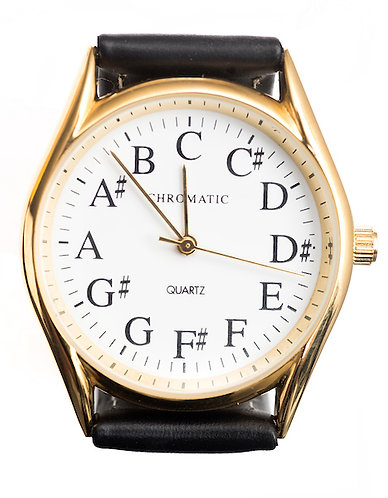 Chromatic Scale Watch for Men in Gold