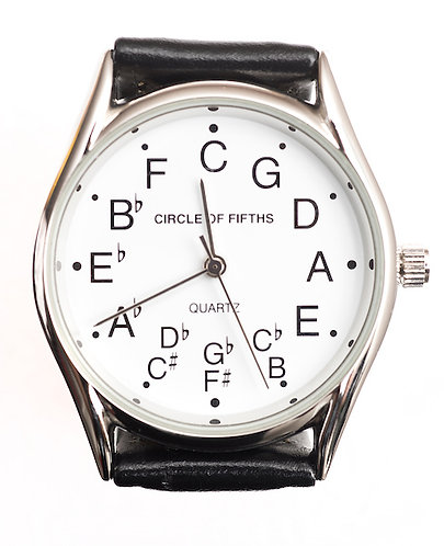 Circle of Fifths Watch for Men in Silver