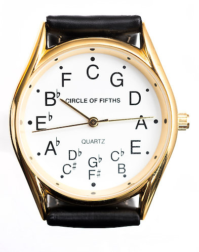 Circle of Fifths Watch for Men in Gold