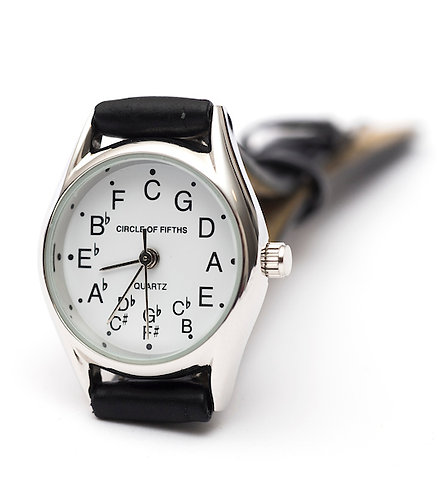 Circle of Fifths Watch for Women in Silver